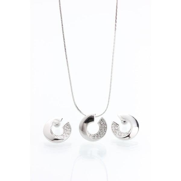 Set colier și cercei cu cristale Swarovski Elements Laura Bruni Atola