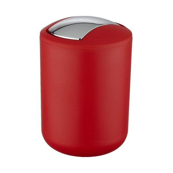 Červený odpadkový koš Wenko Swing Red S
