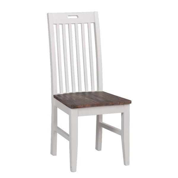 Bílá borovicová jídelní židle Rowico Nottingham