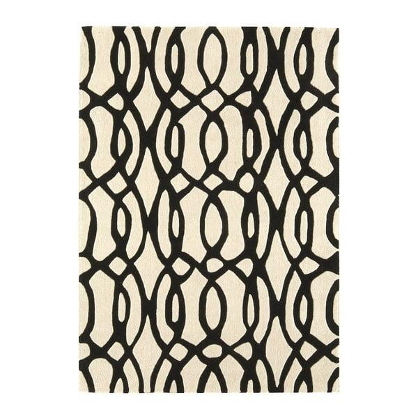 Vlněný koberec Wire White 200x300 cm