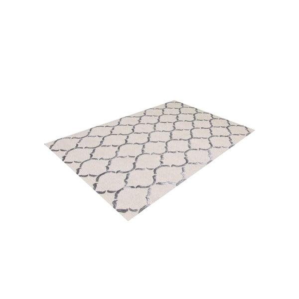 Ručně tuftovaný stříbrný koberec Chain, 153x244cm