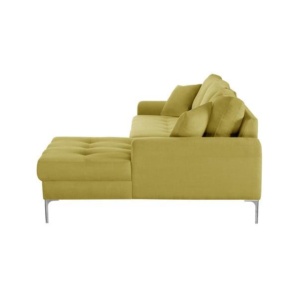 Žlutá rohová pohovka Corinne Cobson Home Dillinger, pravý roh