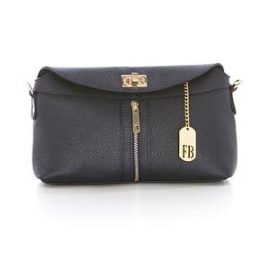 Tmavě modrá kabelka z pravé kůže Federica Bassi Ash