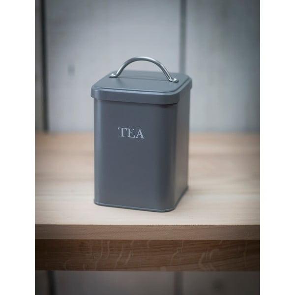 Šedý box na čaj Garden Trading In Charcoal