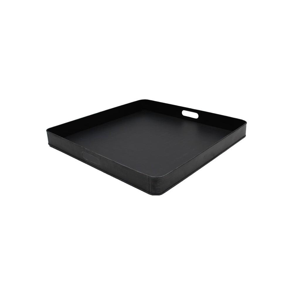 Černý kovový servírovací podnos LABEL51, 60 x 60 cm