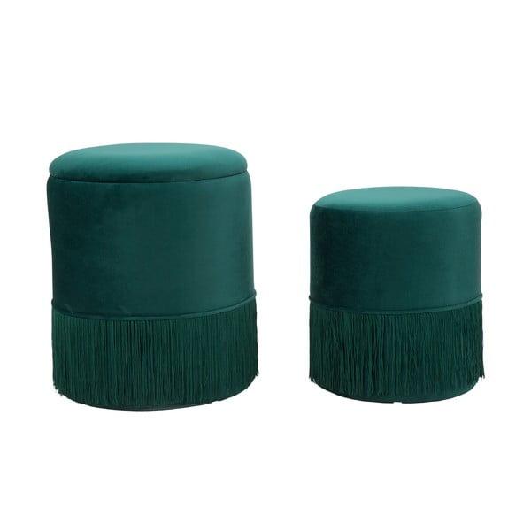 Sada 2 zelených taburetek Mauro Ferretti Constanzo