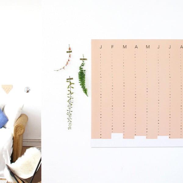 Nástěnný kalendář SNUG.Column, terakotový, 5x7cm