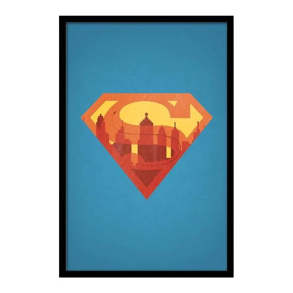 Plakát Superman, 35x30 cm