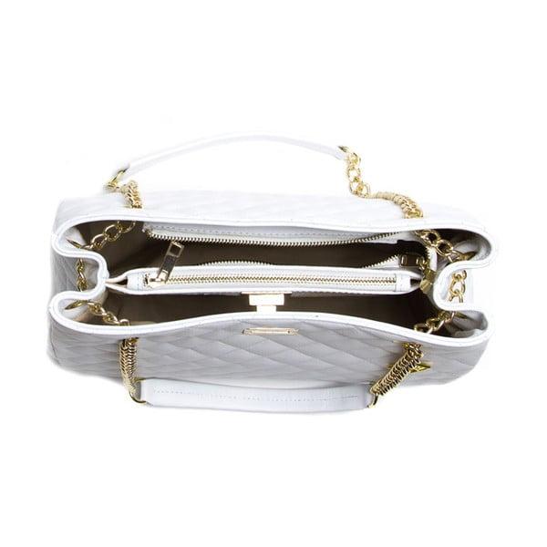 Kožená kabelka Luz, bílá