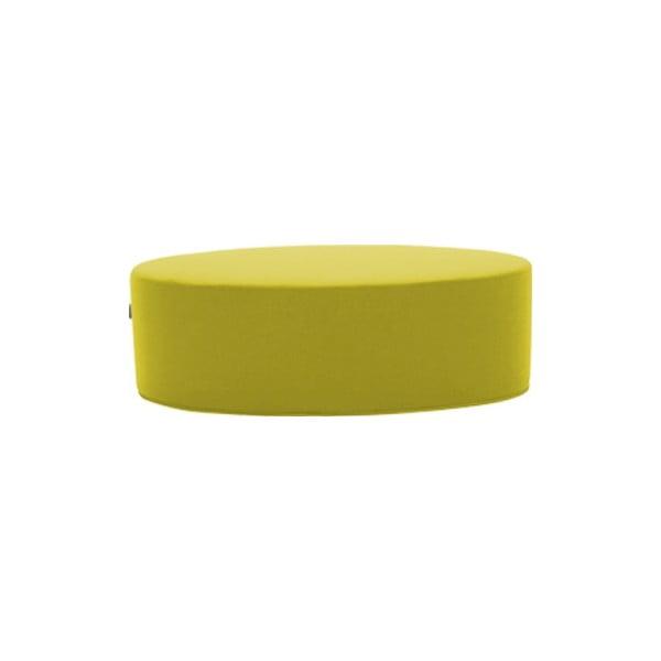 Žlutý puf Softline Bon-Bon Felt Melange Yellow, délka 120 cm