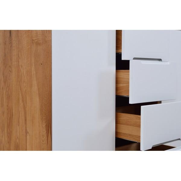 Komoda z dubového dřeva Gazzda Ena Two, 135x42x110cm