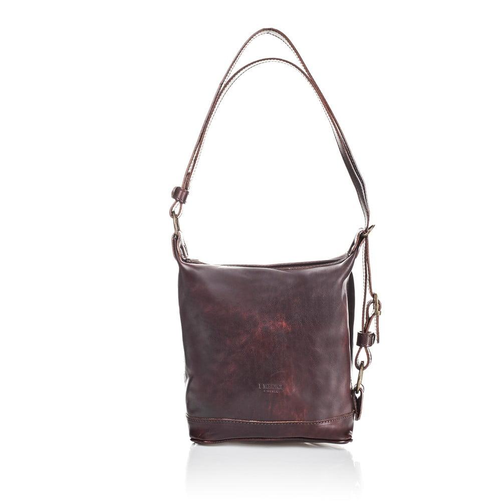 1297c4a95 Tmavě hnědá dámská kabelka z telecí kůže Medici of Florence Valeria ...