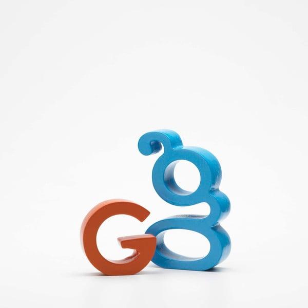 """Velké """"G"""" 5x5 cm, oranžová"""