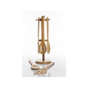 Bambusový stojan s kuchyňským náčiním Rogi