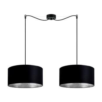 Lustră dublă cu interiorul argintiu Sotto Luce Mika, negru de la Sotto Luce