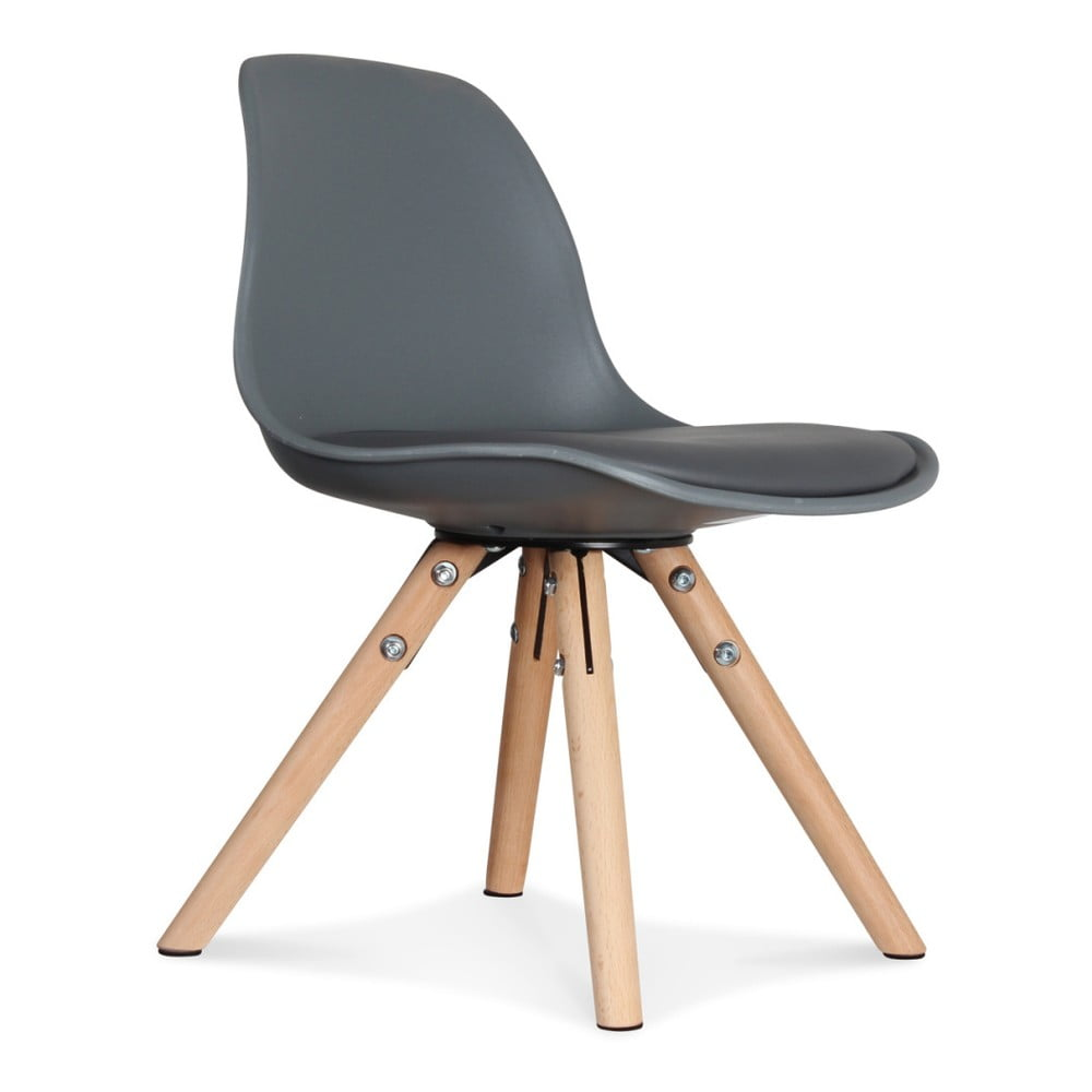 Sada 2 antracitově šedých židlí Opjet Paris Scandinave Chaise