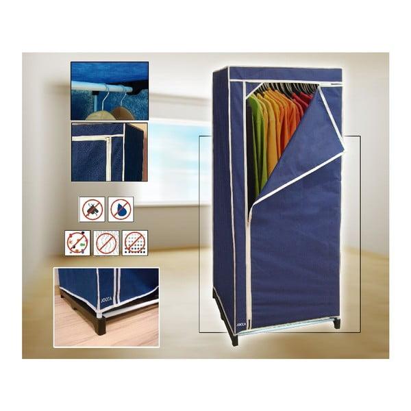 Modrá textilní skříň na šaty Jocca, 148x60cm