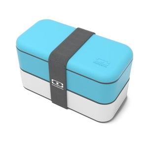 Modro-bílý obědový box Monbento Original