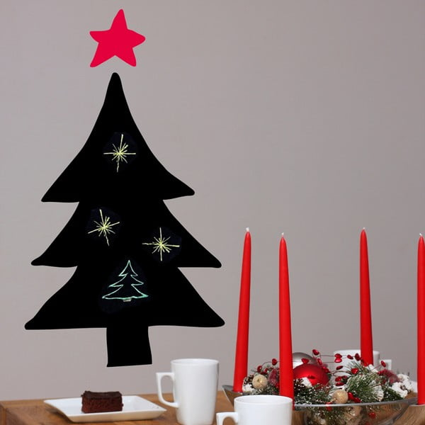 Samolepka Christmas tree blackboard 65x58 cm
