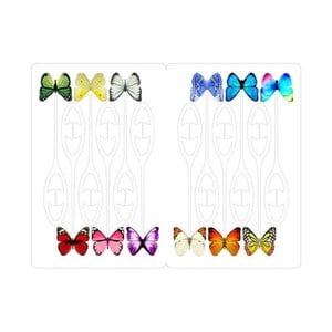 Sada 12 rozlišovačů na skleničky Kikkerland Butterfly