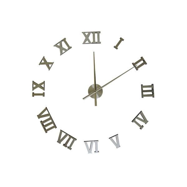 Nalepovací nástěnné hodiny Silver, 100 cm