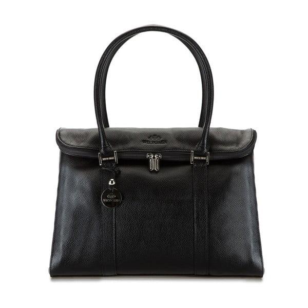 Kožená kabelka Comfort Simple Black