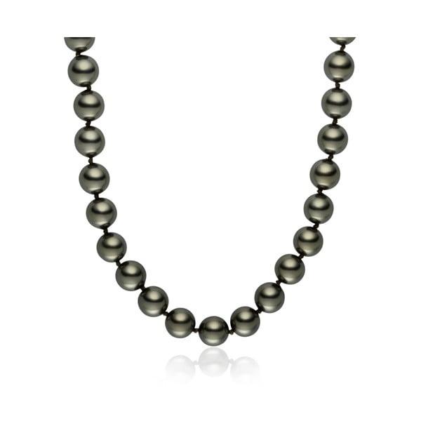 Světle šedý perlový náhrdelník Pearls Of London Mystic, délka 45cm