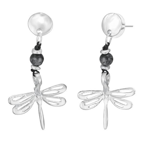 Dámské náušnice ve stříbrné barvě Tassioni Dragonfly