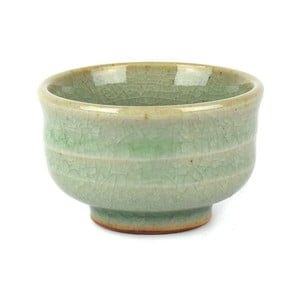 Keramický hrnek bez ouška na saké Made In Japan Celadon