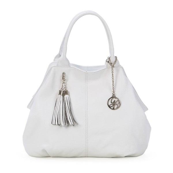 Kožená kabelka Pietro, bílá