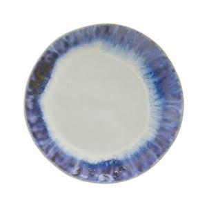 Modrobílý kameninový talíř Costa Nova Brisa, ⌀20 cm