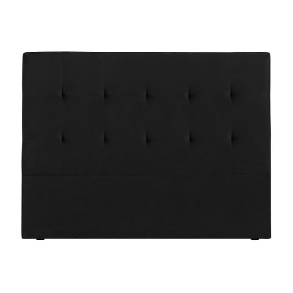 Černé čelo postele Kooko Home Basso, 120 x 180 cm