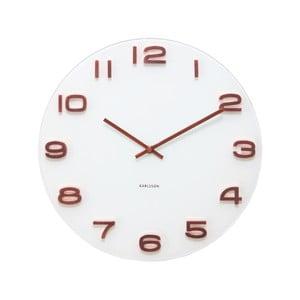 Bílé hodiny Present Time Vintage Numbers