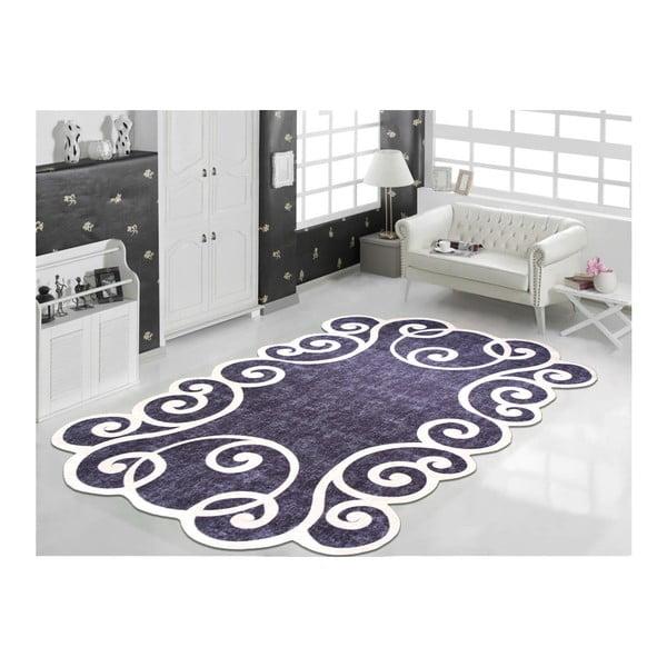 Černo-bílý odolný koberec Vitaus Gunna Siyah, 60 x 100 cm
