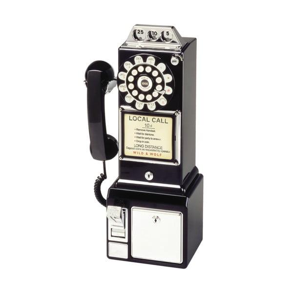 Retro funkční telefon Black Dinner