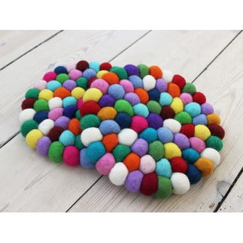 Suport pahar, cu bile din lână Wooldot Ball Coaster Multi, ⌀ 20 cm