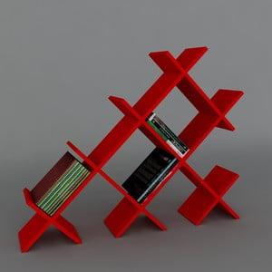 Knihovna Discuss Book Red, 22x118,1x94,5 cm