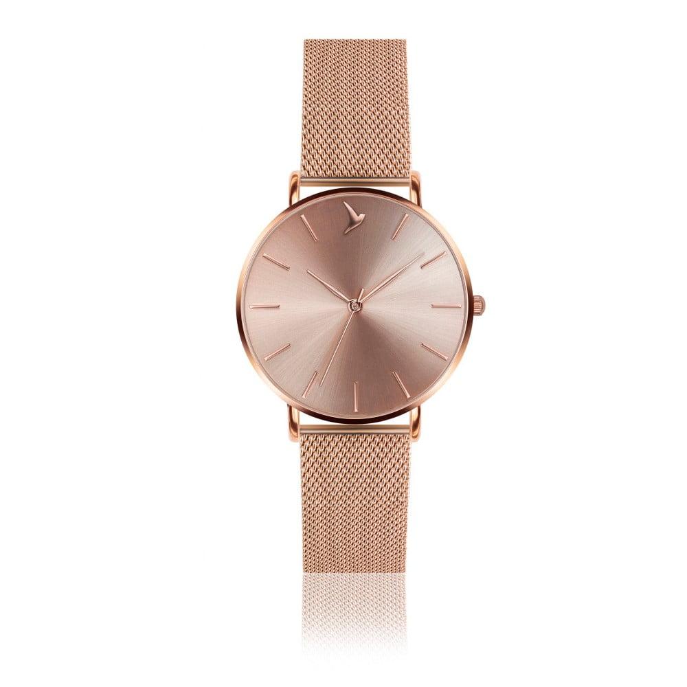 Dámské hodinky s páskem z nerezové oceli v růžovozlaté barvě Emily Westwood  Top 08045c7c40