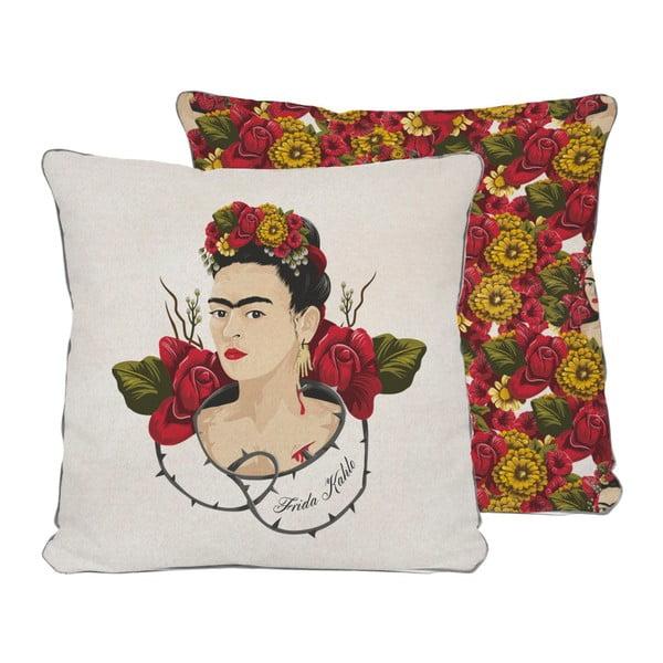 Dwustronna poszewka na poduszkę Madre Selva Frida Roses, 45x45 cm