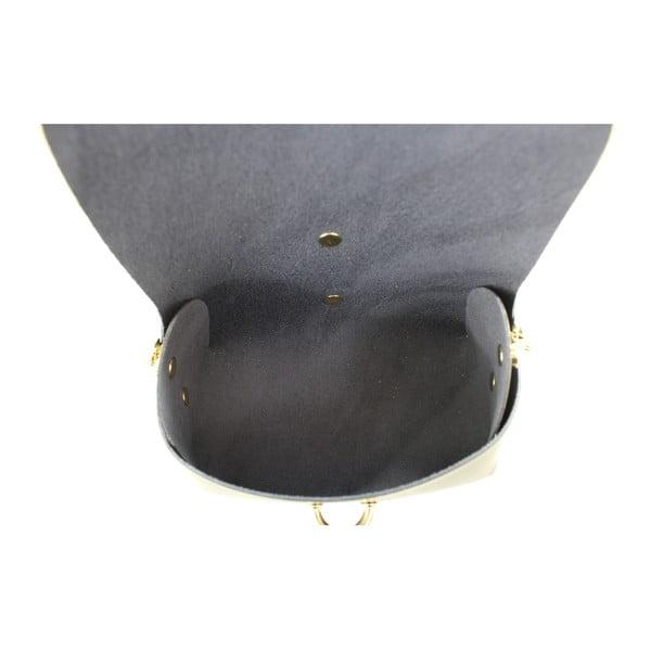 Černé kožené psaníčko Chicca Borse Loira