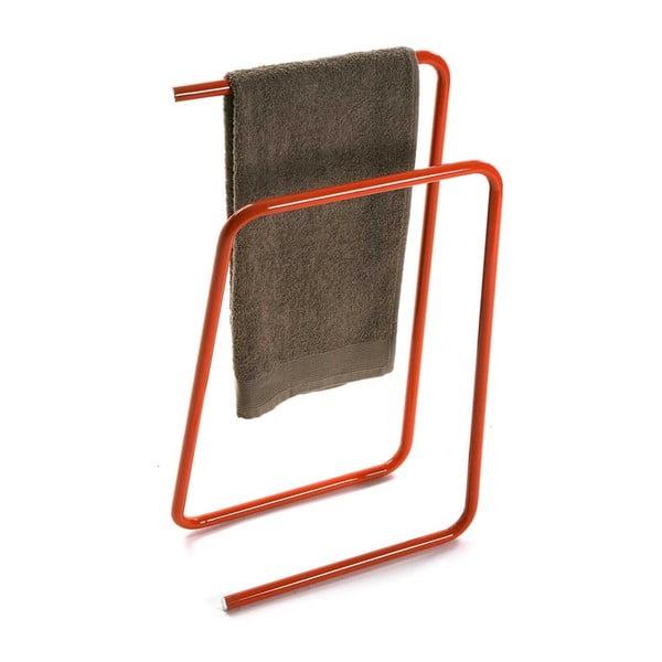 Pomarańczowy metalowy wieszak na ręczniki Versa