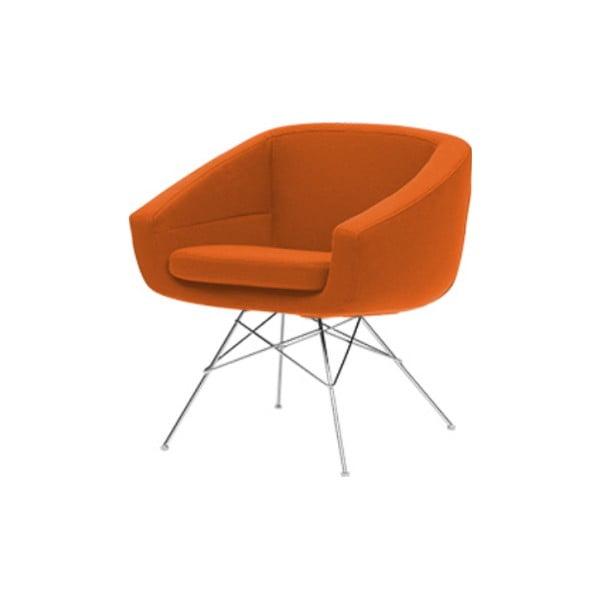 Pomarańczowy fotel Softline Aiko Felt Mandarin