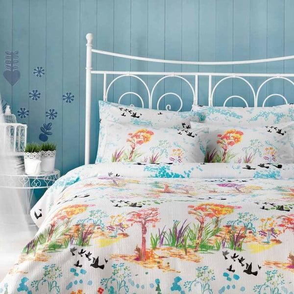 TAC Forrest pamut ágytakaró lepedővel és párnahuzattal, 160 x 230 cm