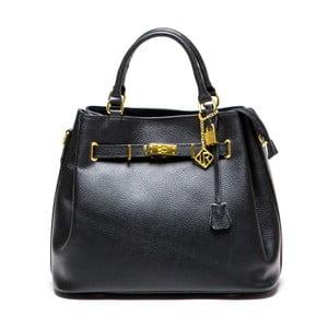Černá kožená kabelka Lupe