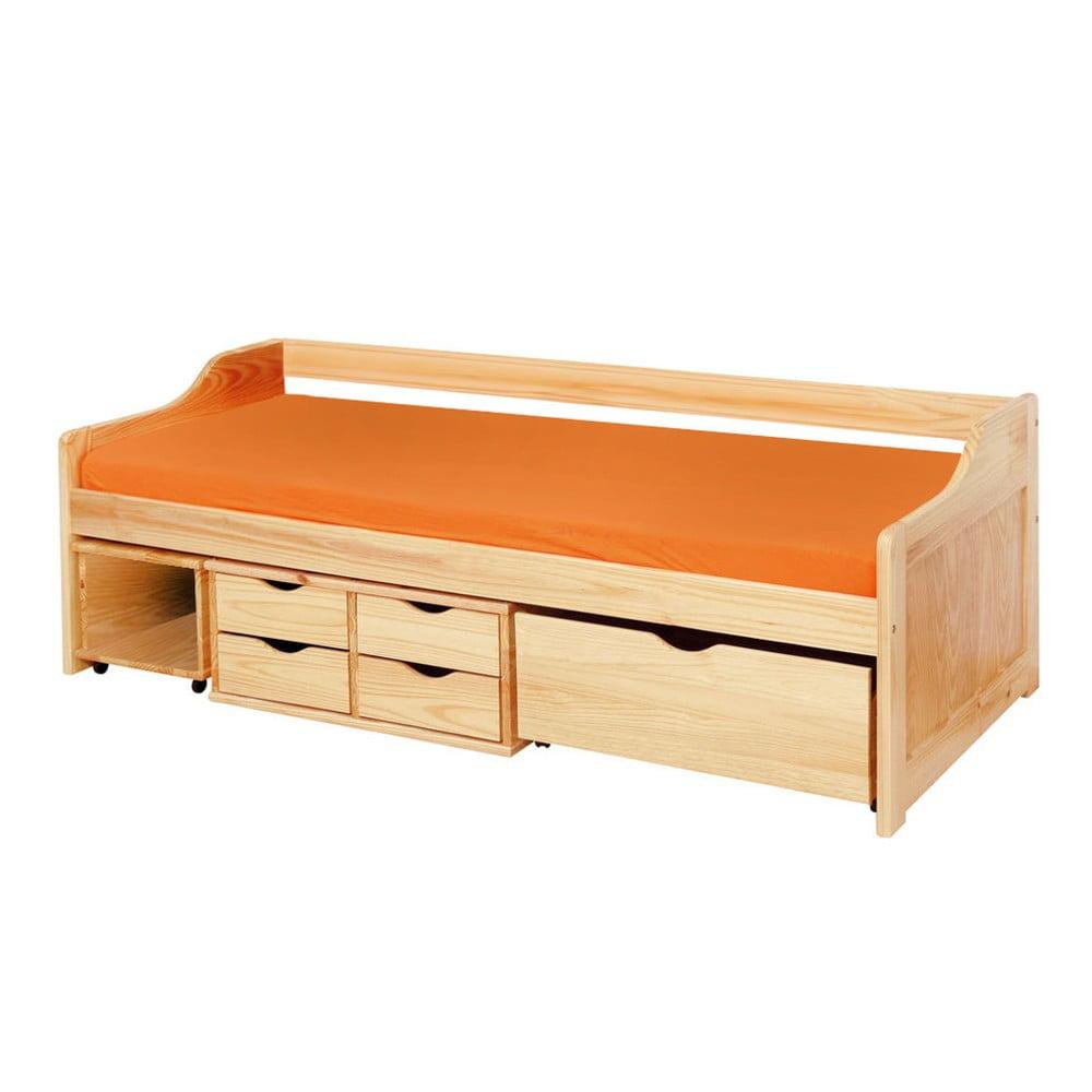 Dřevěná jednolůžková postel s úložným prostorem 13Casa Tetris, 90 x 200 cm