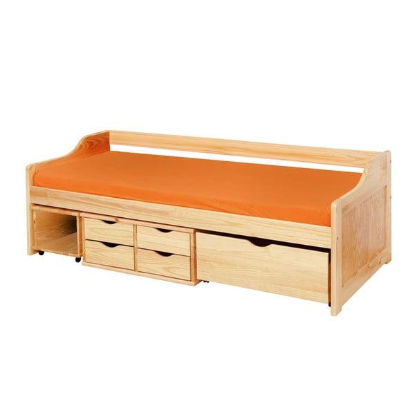 Dřevěná jednolůžková postel s úložným prostorem 13Casa Tetris, 90x200cm