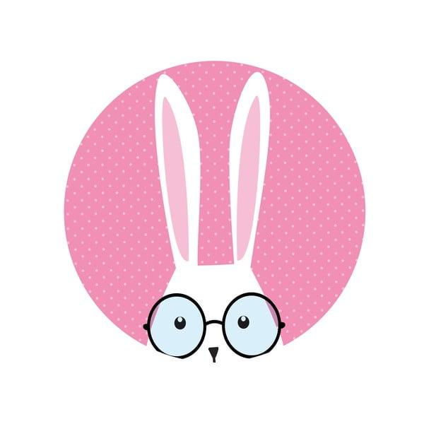 Sada 2 odkládacích stolků Hi Bunny, 35 cm + 49 cm