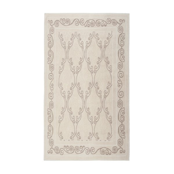 Krémový  bavlněný koberec Floorist Gina, 160x230cm