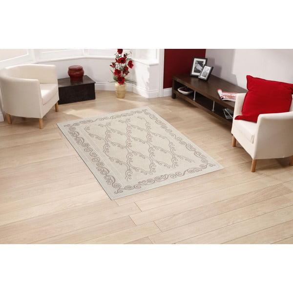 Krémový bavlněný koberec Floorist Gina, 80x300cm