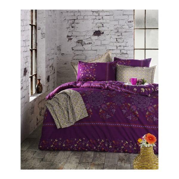 Lenjerie de pat cu cearșaf din bumbac Elis,200x220cm